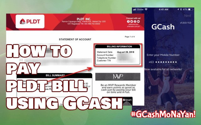 How to pay PLDT bill using GCash (PLDT Fibr or PLDT Home DSL)