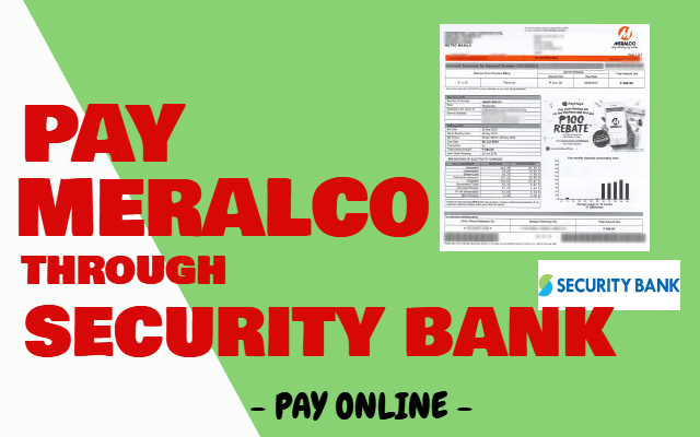 How to Pay Meralco through Security Bank Online