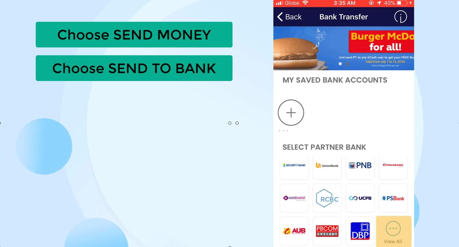 BPI send money security bank using gcash 20