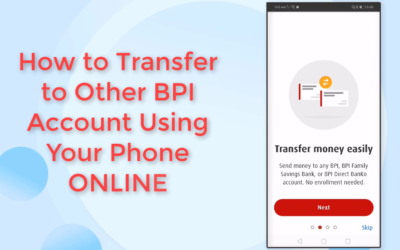 BPI Fund Transfer to Anyone: Money Transfer Online Unenrolled 3rd Party